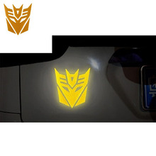 3d  Relective Warning  Car Sticker Transformers  sticker For Car Auto logo Window Tail Car Body Decoration Car Styling