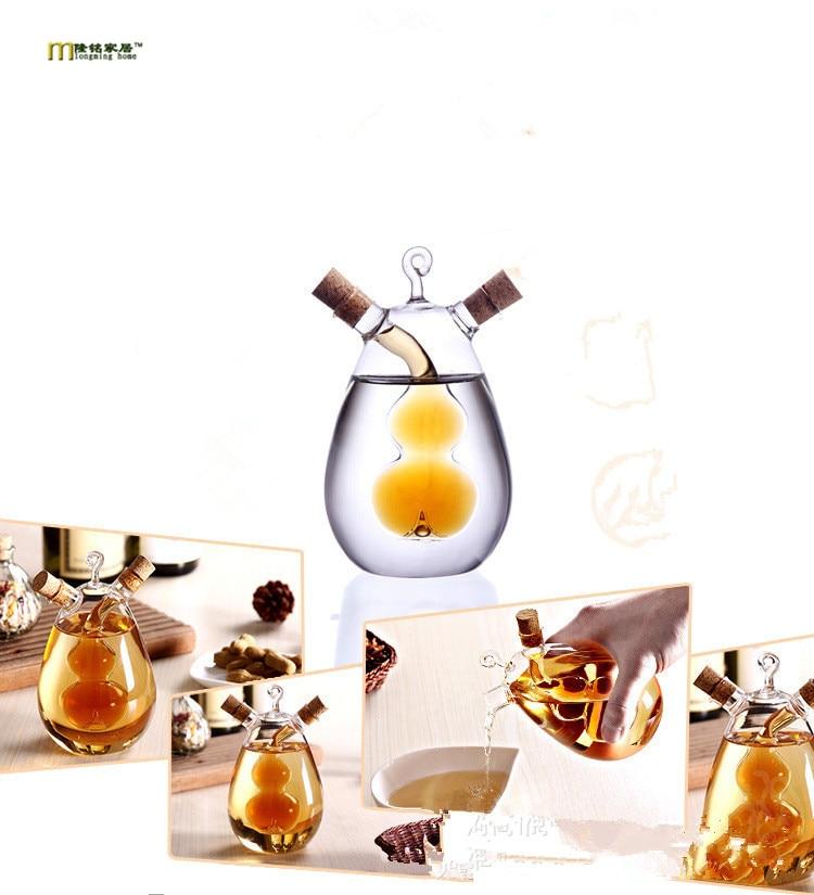 1PC Nordic amorous feelings Creative the leak oil pot/glass condiment bottles sealed pot/soy sauce vinegar pot bottle OK 0358