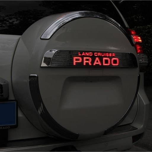 2010-2017 LED Rear Tire Cover Styling Light Brake light For Toyota Land Cruiser Prado FJ150 LC 150 Accessories black rear trunk cargo cover shade for toyota land cruiser prado fj150 2010 2011 2012 2013 2014 2015