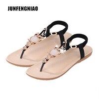 2017 Fashion Plus Size Shoes 36 42 Women Sandals Flats Flip Flops Beach Summer Slip On