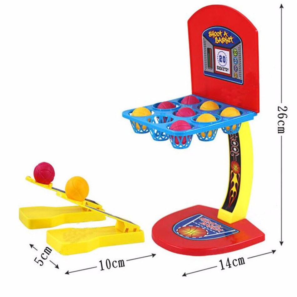 Mini Basketball Shooting Game for Children's Desktop Shooting Marbles  Table Games Parent-Child Interaction Fingertip Movement