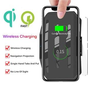 Image 3 - Chargeur sans fil pour téléphone intelligent universel voiture miroir support pare brise projecteur HUD tête haute affichage GPS Navigation HUD support