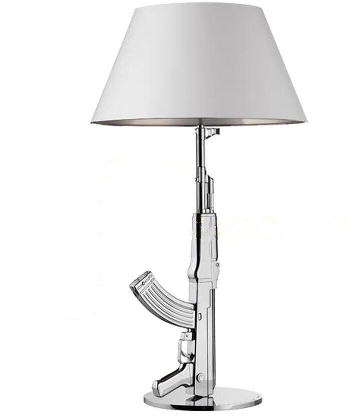 New Modern Design Chrome silver Golden AK47 Gun Table Lamp Desk ...