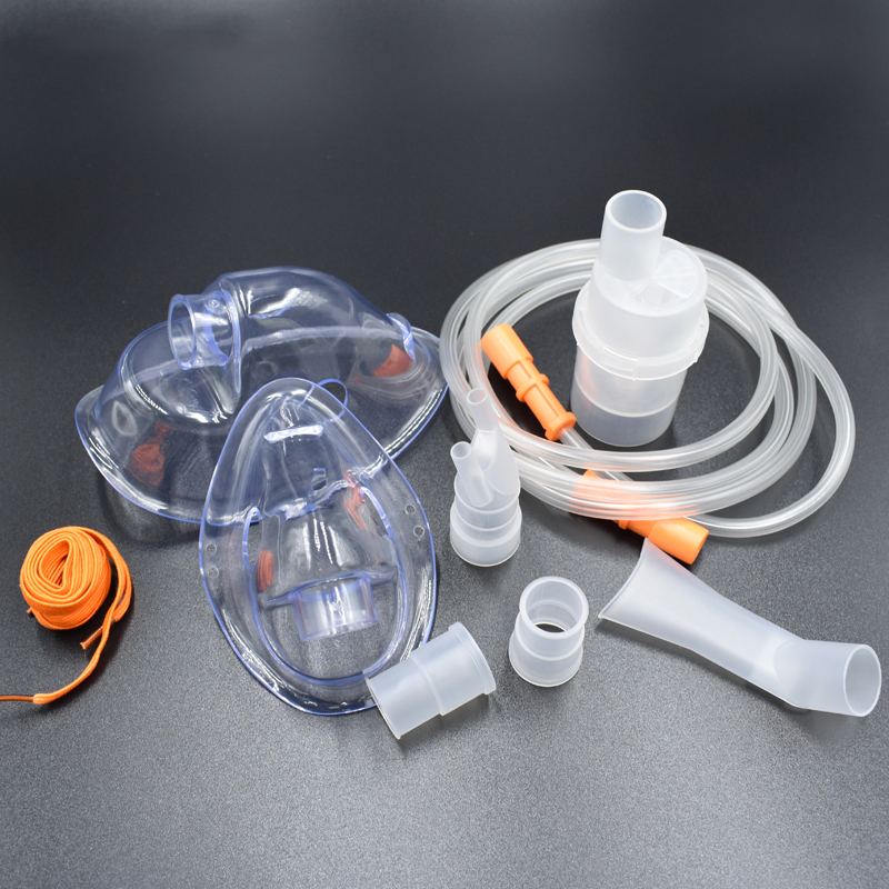 Comp Mist Husholdnings Kompressor Nebulizer Cup Mouthpieces Voksen Barn Mask Inhaler Sett Tilbehør Familie Medisin Husholdning