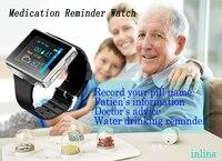 Pilule alarmes rappel vibrant Watch ABS grand écran alerte médicale montre