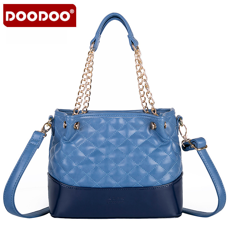 DOODOO Bags Handbags Women Famous Brands 2018 New Prism High Quality Soft Leather PU Shoulder Bag Casual Woman Handbags B592 doodoo women leather handbags famous brands women handbag purse messenger bags shoulder bag handbags pouch high quality fr618