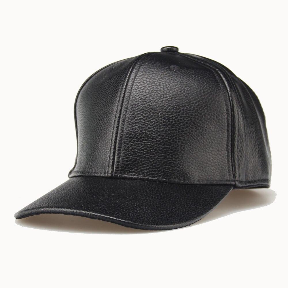 885d56c8b61 2017 Men Women Sports Cap Outdoor Baseball Tennis Hat PU Leather Winter  Spring Golf Hiking Running Cap Trucker Snapback Hat. aeProduct.