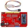 Про Мини ATmega328P Доска + Pro Mini UNO Щит Адаптер + CH340G USB в TTL Программист легко загрузить эскиз Arduino Pro Mini