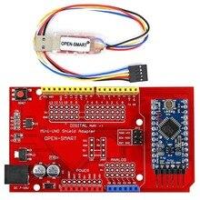 Pro Mini ATmega328P Board + Pro Mini UNO Shield Adapter + CH340G USB to TTL Programmer easy to upload sketch to Arduino Pro Mini