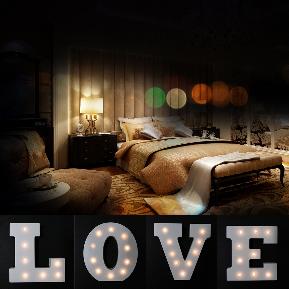 DIY LOVE Letter LED Night Light Valentine' Day Lights Bedroom Lamp Wall Hanging Photography Wedding Decor LED Night Lights New 8x10ft valentine s day photography pink love heart shape adult portrait backdrop d 7324