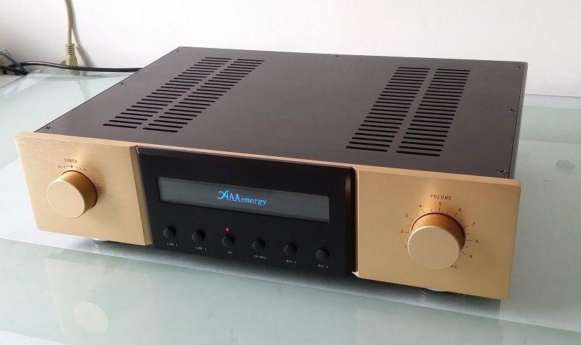 Douk Audio Hi-End Pre-Amplifier Stereo HiFi Pre-Amp Preamp Pure DIY Handmade 1pcs high quality little bear p5 stereo vacuum tube preamplifier audio hifi buffer pre amp diy new