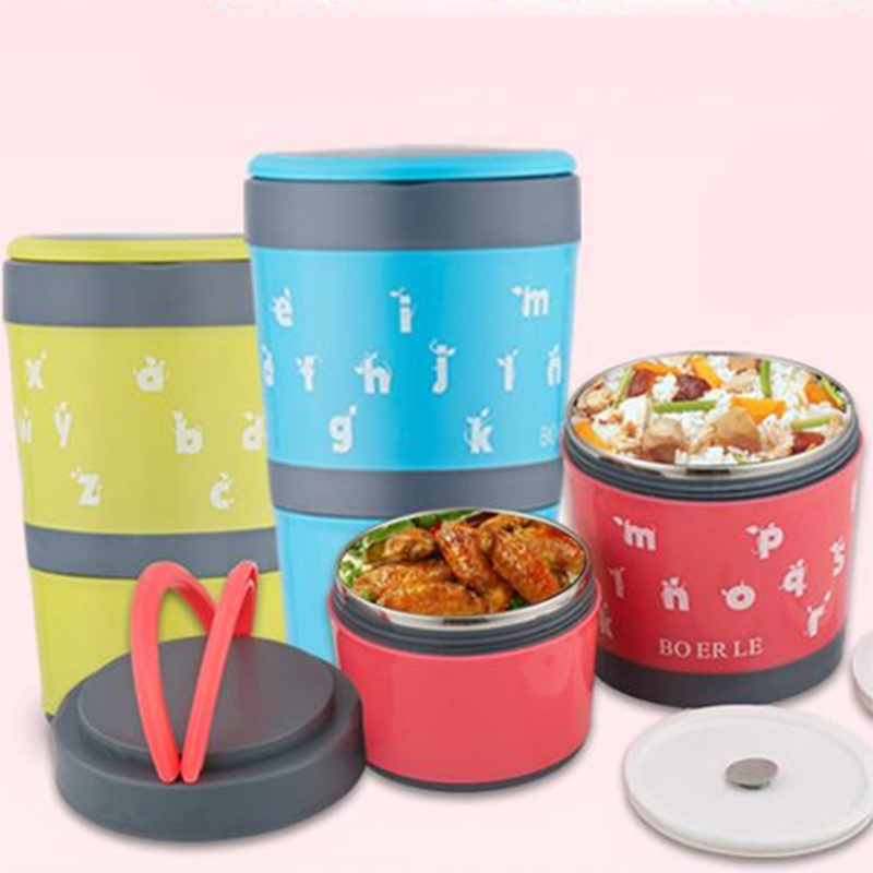 buy 2 layers thermal bento creative lunch box thermosstainle. Black Bedroom Furniture Sets. Home Design Ideas