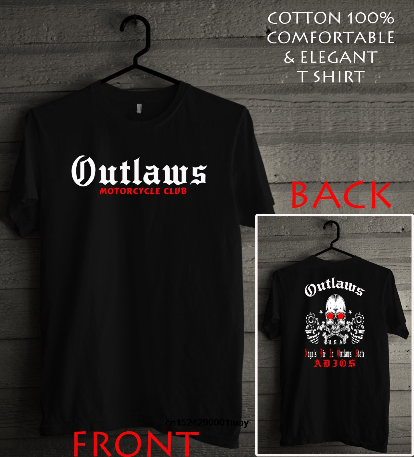 Outlaws Mc Shirt Support Your Local Outlaws Black Men