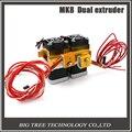 2016 Mais Recente Mk8 12 v Dual Head Bico Extrusora Dupla Cabeça de Impressão Para A Estrutura Makerbot Impressora 3D Com 1.75mm suprimentos de metal
