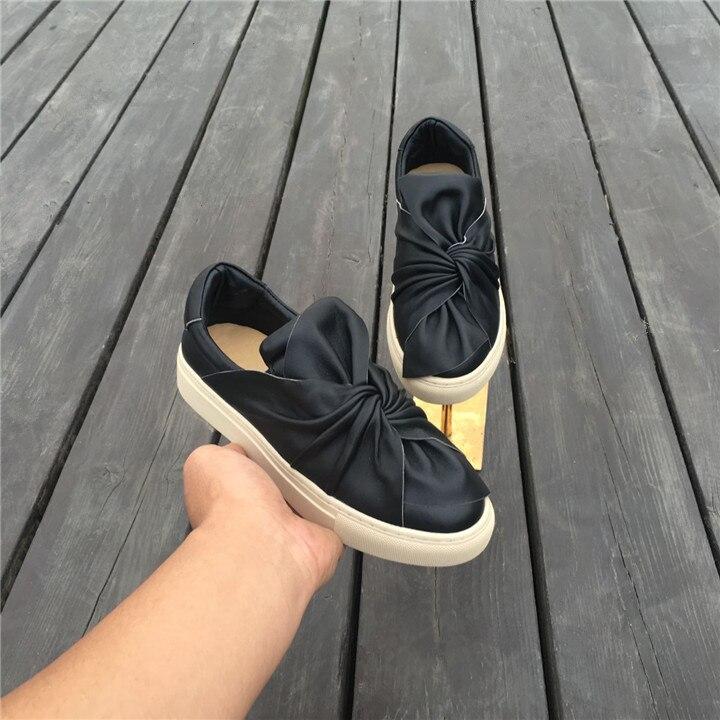 Glissent Les Blanc As Appartements Cuir Arc Chic Femmes Sneakers Or Cravate Couleur Mocassins En Pic Low Pic Mode Noir as Top Chaussures Sur Casual AXx4Fq