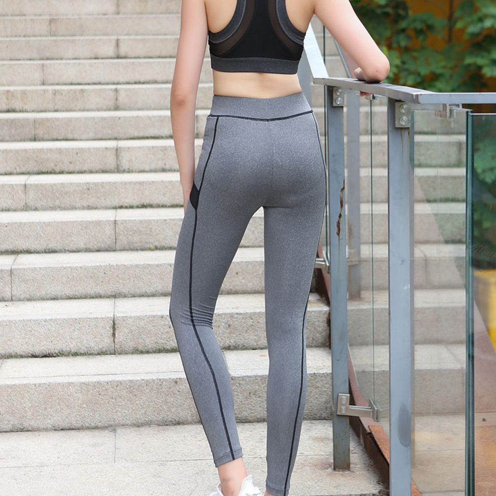 68795999fb7 Net Yarn Patchwork Yoga Pants Women Super Stretchy Gym Tights Plus Size  High Waist Sport Leggings Quick drying Running Pants-in Yoga Pants from  Sports ...