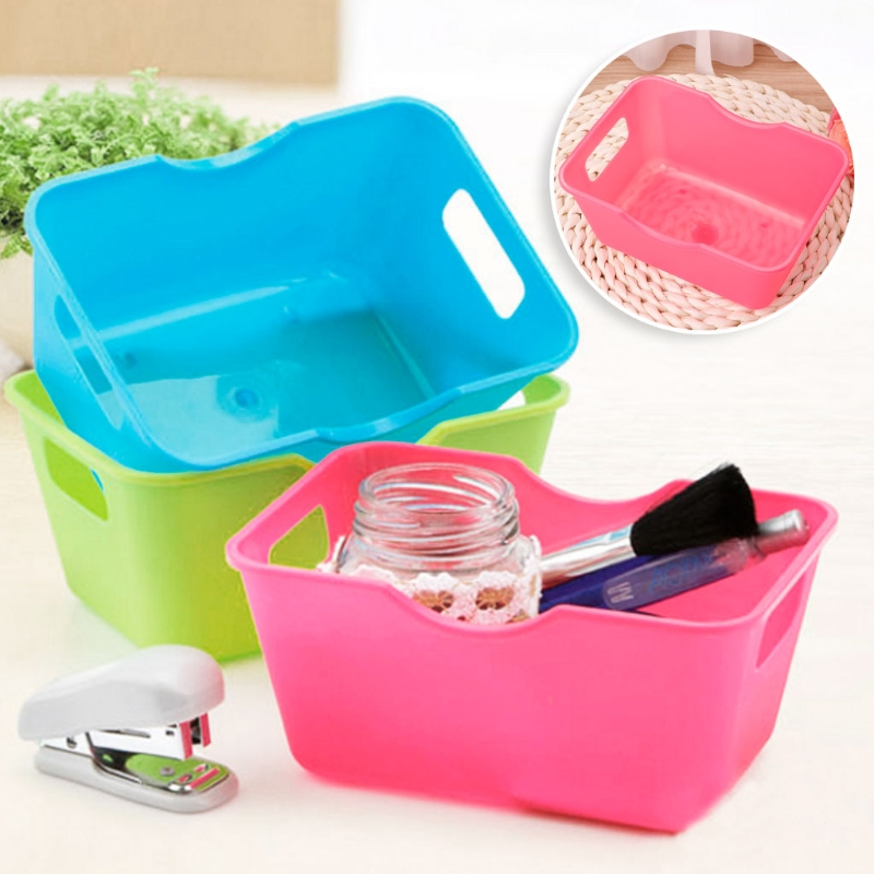 Home Office Desktop Storage Organizer Sundries Storage Box Cabinet Underwear Storage Basket Makeup Container Boxes #20/17W