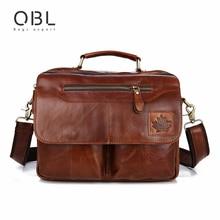 QiBoLu 2017 Vaca Bolsa do Couro Genuíno Dos Homens Messenger Ombro Bolsa Saco Crossbody Sacoche Homme Hombre Masculina Bolso MBA70