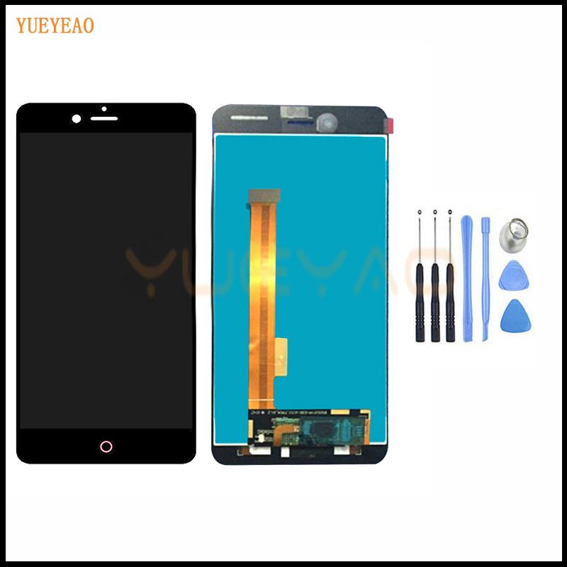YUEYAO 5.2 polegada LCD Display + Touch Screen Digitador Assembléia Substituição Para ZTE nubia Smartphones NX549J Z11 Mini S LCD tela