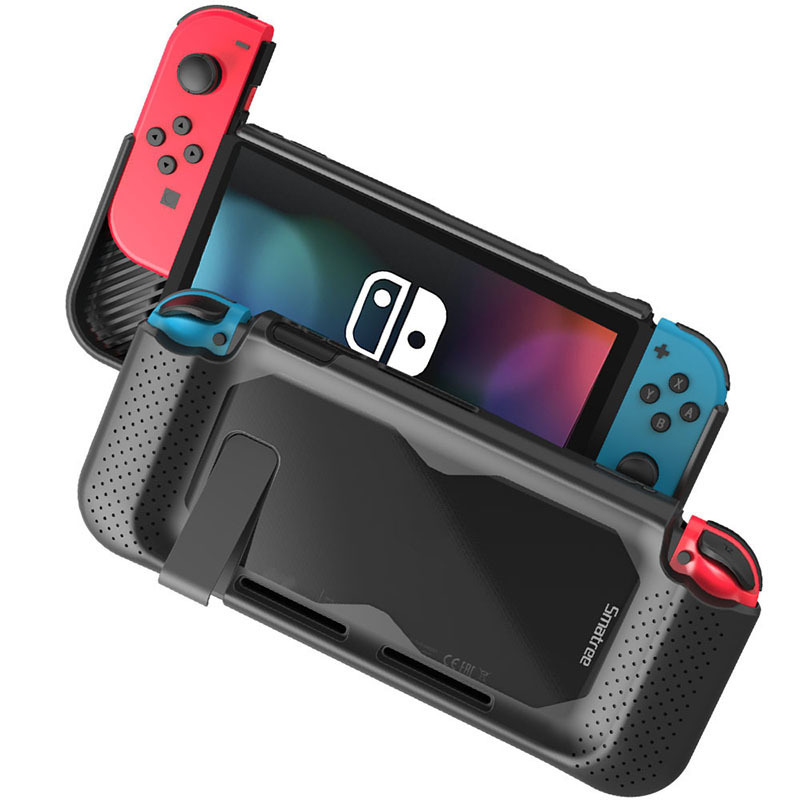 Smatree Hard Transparent Protective Case Storage Bag For Switch Case Holder Silicon Shell Glass For Nintend Switch NS Console