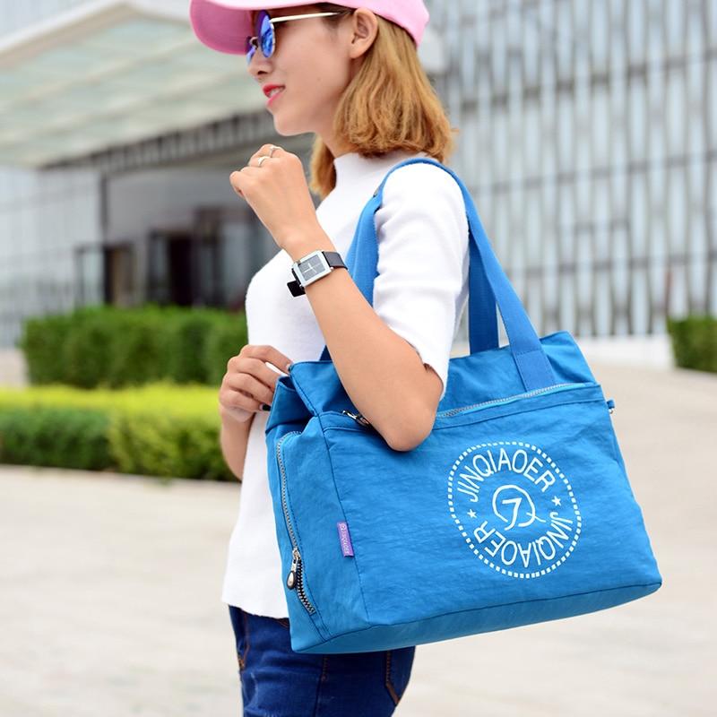 Wanita Nylon Messenger Bag Kapasiti Besar Wanita Beg Bahu Waterproof Handbag Kasual Tote Fashion Crossbody Bag For Lady