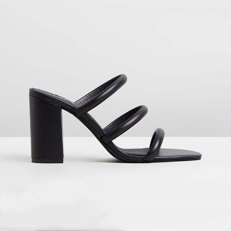 Chaussures Carrés En Femmes D'âge Nouveauté Nancjayjii Blanc Cuir Femme Mûr 2019 Mode Ty01 Solide Haute Super Verni Pantoufles À Talons L'extérieur FStccqwWf