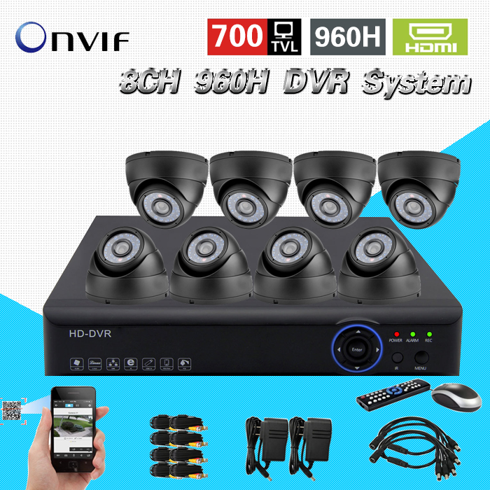 TEATE video surveillance night vision HD CMOS 700tvl camera kit 8ch cctv 960h realtime dvr NVR recorder HDMI 1080p system CK-150 система видеонаблюдения ngtechnic 8 8 cctv 8 2 dvr 1008 d626bcm 700 c