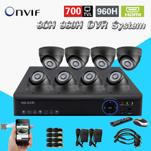 TEATE video surveillance night vision HD CMOS 700tvl camera kit 8ch cctv 960h realtime dvr NVR recorder HDMI 1080p system CK-150