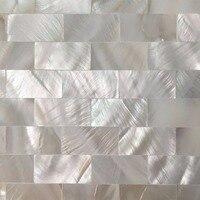 6 Gạch Khảm Vỏ Peel và Stick Mẹ của Trân Châu Shell Gạch cho Nhà Bếp Backsplashes, 12