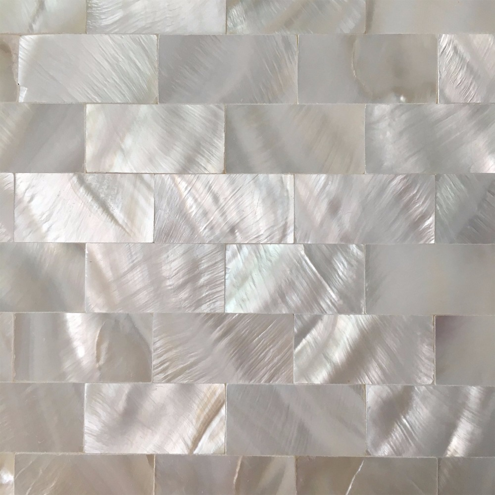 6 Shell Mosaic Tiles Peel And Stick Mother Of Pearl Shell Tile For Kitchen Backsplashes 12 X
