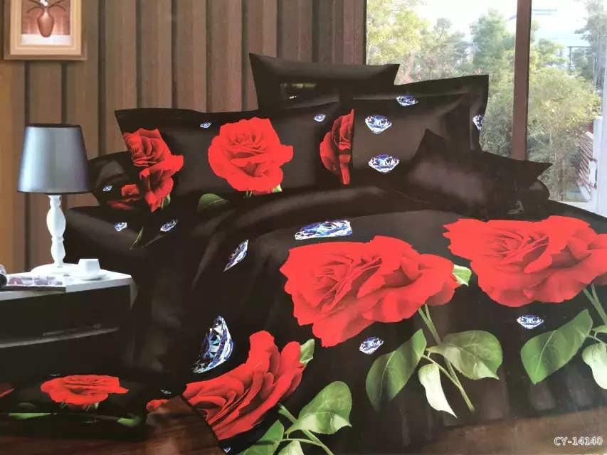 Textiles para el hogar, 3D Juegos de Cama ropa de cama de Impresión Reactiva 4 U