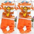 Casual Kids Boys Girls Tager Hoodie Sweatshirt Pants Outfits Set orange Hot Sale High Quality