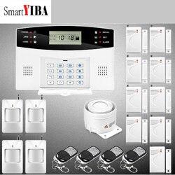 SmartYIBA Russo Spagnolo Italiano Francese Vocale Wireless GSM SMS Casa Ufficio Antifurto Intruder Sistema di Allarme PIR Sensore di Movimento