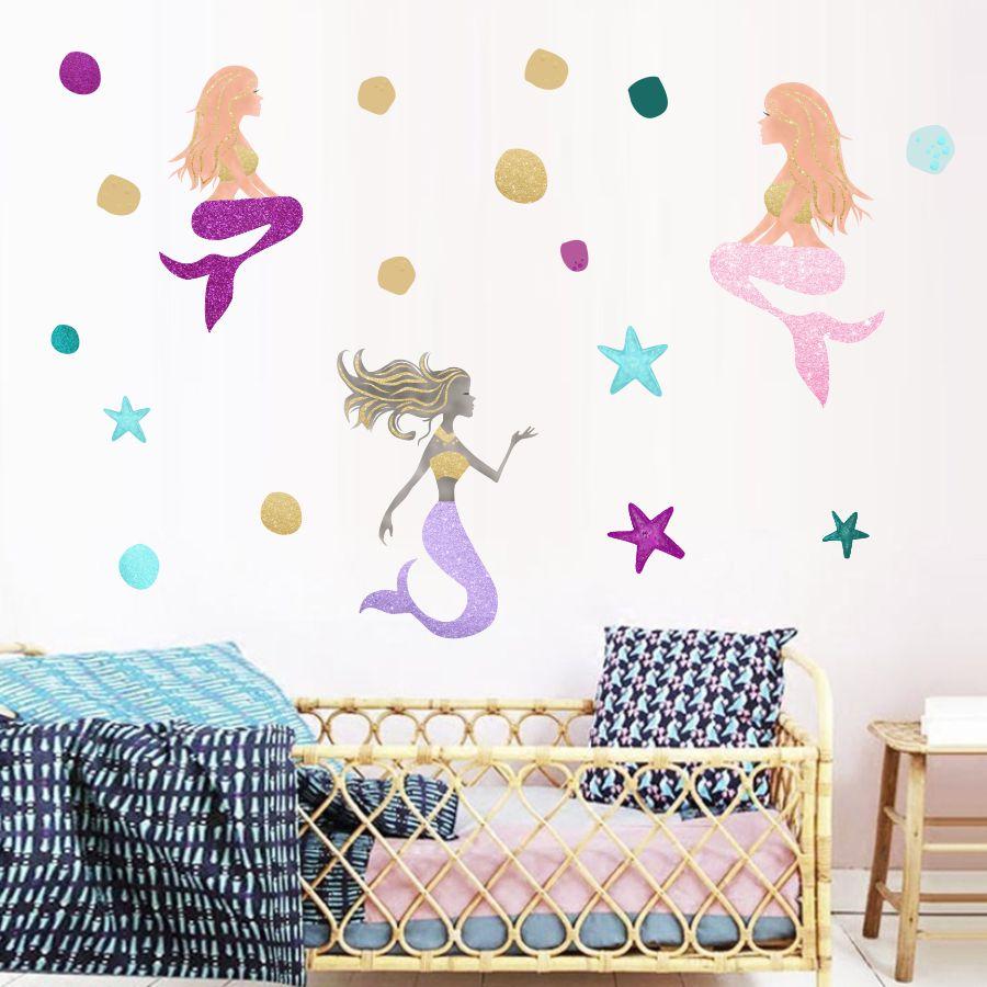 "Mermaid B VINYL Decals Sticker 5/"" X 4/""  BUY 2 GET 1 FREE"