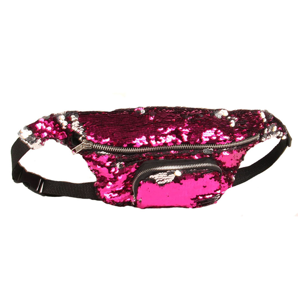 Unisex Waist Bags Activity Casual fanny pack Double Color Sequins Unisex Waist Pack belt bag women's waist bag