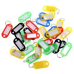TFTP-30 X цветные Пластик брелоков Чемодан ID тегов этикетки с названием карты, идеально подходит для многих применений-гроздья ключей, L