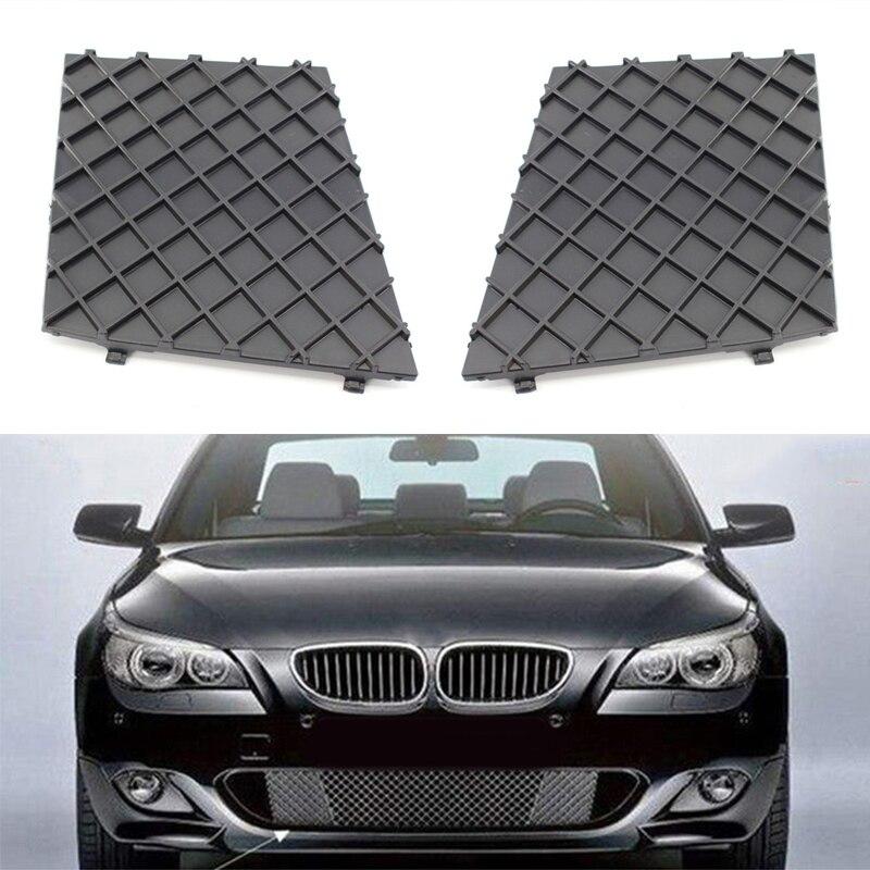 2pcs Anteriore L/R Griglie Paraurti Copertura Inferiore Della Maglia Griglia Griglia Assetto Per Il BMW E60 E61 M Sport paraurti anteriore Griglia di Copertura