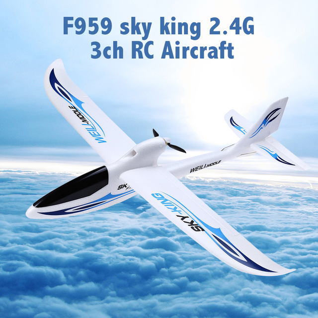 New Arrival WLtoys F959 Sky King RC Aircraft 3CH 2.4GHz 200m Range Wireless Remote Control Airplane Wingspan RTF Plane Boy Gifts