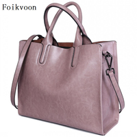 Foikvoon Fashion Women Bag Cross Body PU Leather Women Crossbody Bag Temperament Solid Color Female Bag