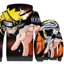 3D Print brand clothes homme Anime Uzumaki men zip wool liner warm jackets 2018 winer Thick swag coats funny Naruto tracksuits цена