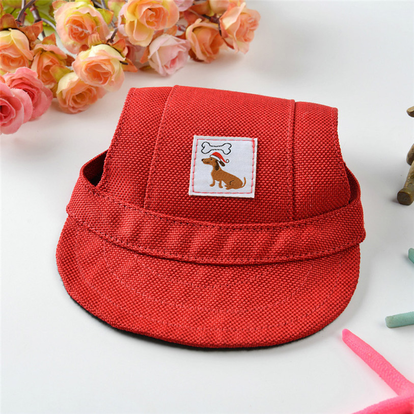 Summer Canvas Pets Cap Hat Dog Cat Headband Cute Print Outdoor Headdress Costumes Hair Band Visor Hat Cat Dog Accessories 40JA11 (22)