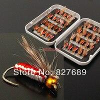 40 unids/set biónico pesca con mosca ganchos de pesca establecida tackl realista cebos plumas