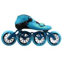 Скорость роликов углерода Волокно Профессиональный 4*100/110 мм конкуренции коньки 4 Колёса Racing катание patines подобные powerslide