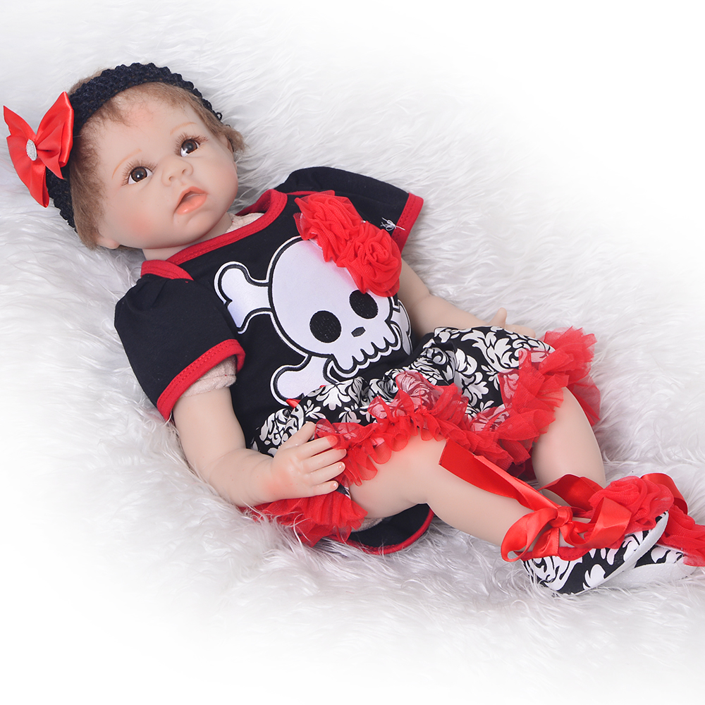 Realistic 22 Reborn Baby Dolls Toys Silicone Vinyl Touch Real 55 cm Newborn Dolls Individuality Christmas Gifts For Baby Girls