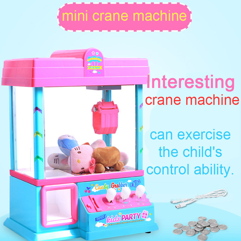 2017 New Usb Upgrade Coin Operated Doll Candy Catcher Mini Crane Machine Kids Toys Parent-child Interaction Children Funny Gift new strange trick wacky cavecanem desktop game funny family party electric sound dog creative parent child interactive toys