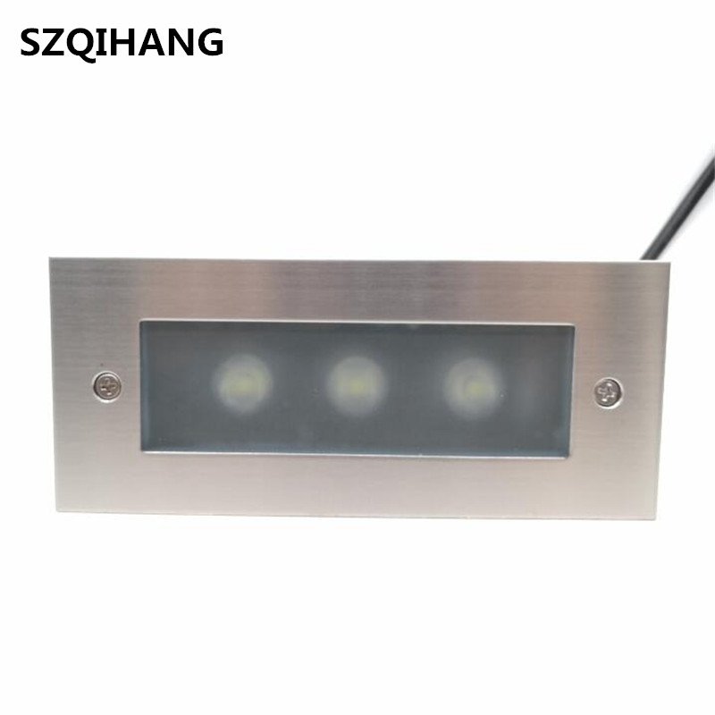 Us 175 44 32 Off Led Underground Lamps 3 3w Outdoor Landscape Stair Lighting Step Lights Nightlights Floor Lamp Waterproof Embedded In