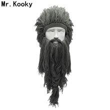 Mr. Kooky, унисекс, безумный парик с длинной бородой, Vikingar, шапки Викинги, ручная работа, зимние подарки для косплея, забавные костюмы на Хэллоуин, шапки