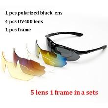 Polarize Gözlüğü Güneş Gözlüğü Erkekler Kadınlar 5 In 1 Açık Spor Gözlük Optik Reçete Gözlük Çerçeveleri Gözlük