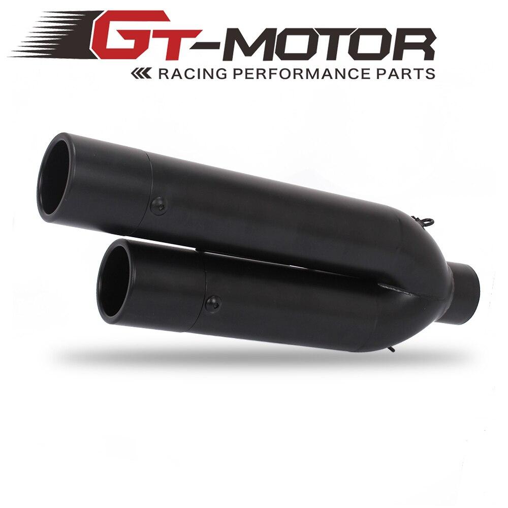 GT двигатель мотоцикл глушитель двойной трубы из нержавеющей стали глушитель выхлопной трубы Escape Modify
