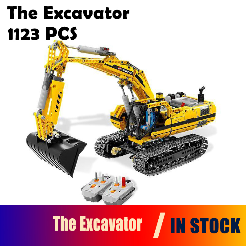 Compatible with Lego Genuine Technic 8043 model 20007 1123pcs excavator Model building blocks Figure bricks toys for children 0367 sluban 678pcs city series international airport model building blocks enlighten figure toys for children compatible legoe